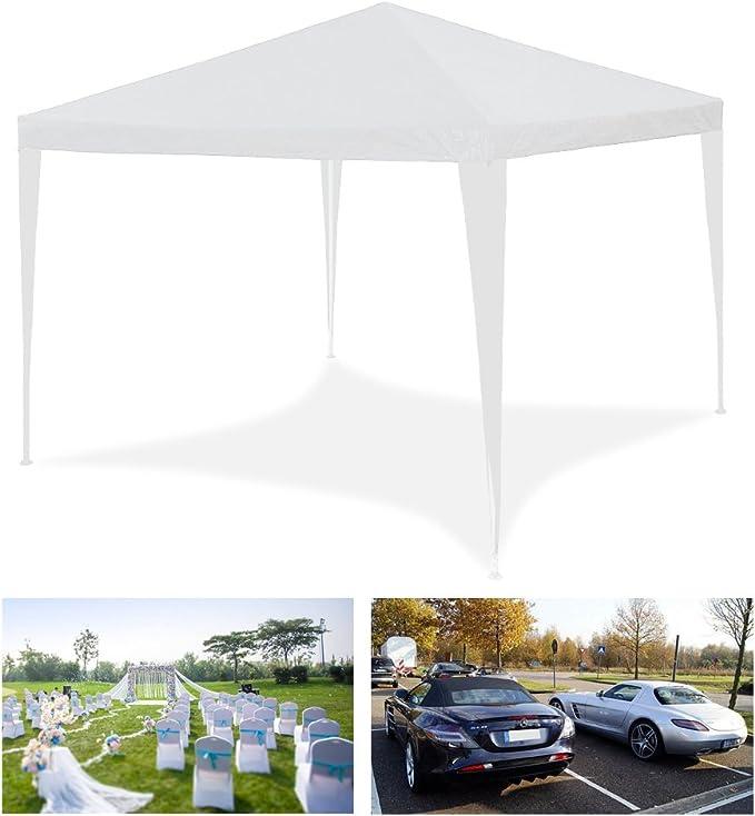HG® 3x3m Tienda para fiestas Pavimento de boda Tienda de playa Construcción de acero Plegable Camping Jardín Impermeabilización Valla Pabellón de ...