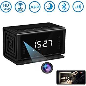 Hidden Camera Miota Spy Camera Wireless Security Nanny Cam with 1080P Full HD, WiFi, Night Vision, Motion Detection, Bluetooth Speaker,FM Radio,Cell Phone App,No Sound Recording