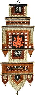 "Varunavi Handloom Cotton Wall Hanging for Home Decor Tapestry 10"" X 26"""