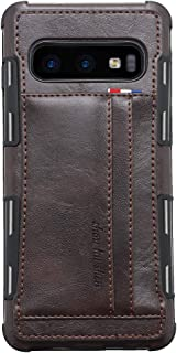Leather Case for Samsung Galaxy S10e,Coffee 2Card Slot (ID Card,Credit Card) Thin PU Leather 5.8inch Shell,Accurate Cutouts Concise Durable Gift Girls Boys Unisex