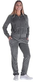 Facitisu Womens 2 Piece Sweatsuits Tracksuits Velvet Outfits Hoodie & Pant