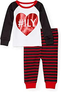The Children's Place Baby Girls' I Love You 2 Piece Pajamas