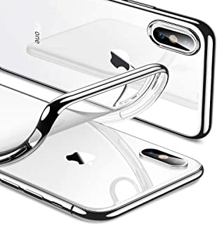 ESR Essential Twinkle Case for iPhone Xs/X, Slim Soft TPU Cover [Supports Wireless Charging] for The iPhone 5.8'' (Both 2018 & 2017), Silver Frame