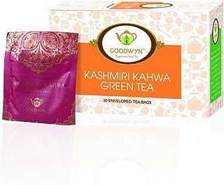 Goodwyn Kashmiri Kahwa Green Tea, A Supreme Blend of Green Tea and Indian Spices, 20 Tea Bags