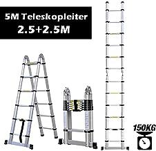 Myifan /Échelle t/élescopique polyvalente en aluminium portative pliable conforme aux normes CE et EN131