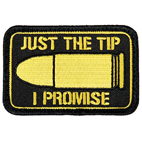 """""""Just The Tip I Promise"""" Morale Patch by Violent Little - Embroidered Velcro"""
