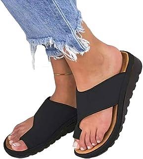 Womens Bunion Sandals, Fashion Women Comfy Platform Sandal, Summer Beach Travel Slippers, Hallux Valgus Shoes For Big Toe Bone Correction