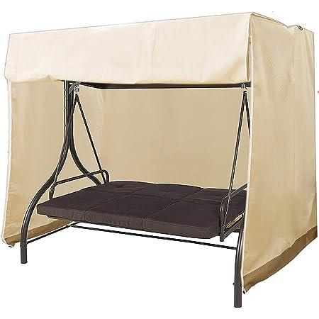 resistente per esterni colore: grigio 220 x 170 x 145 cm impermeabile Copertura per sedia a dondolo a 3 posti copertura protettiva per mobili