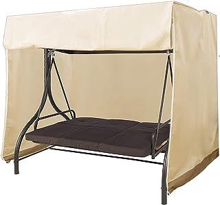 impermeabile solido 142x120x18cm Non null Beige 3 posti XHXseller Set di 2 coperture per mobili da giardino copertura protettiva per mobili da giardino resistente al sole e non sbiadisce