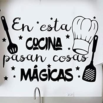 Restaurante Sala de Estar Da.Wa Etiqueta Adhesiva de Pared de Vinilo Dise/ño Decorativo de Linda para Cafeter/ía Cocina