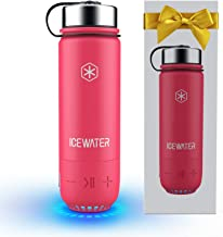 ICEWATER 3-in-1 Smart Stainless Steel Water Bottle(Glows to Remind You to Stay Hydrated)+Bluetooth Speaker+Dancing Lights,...