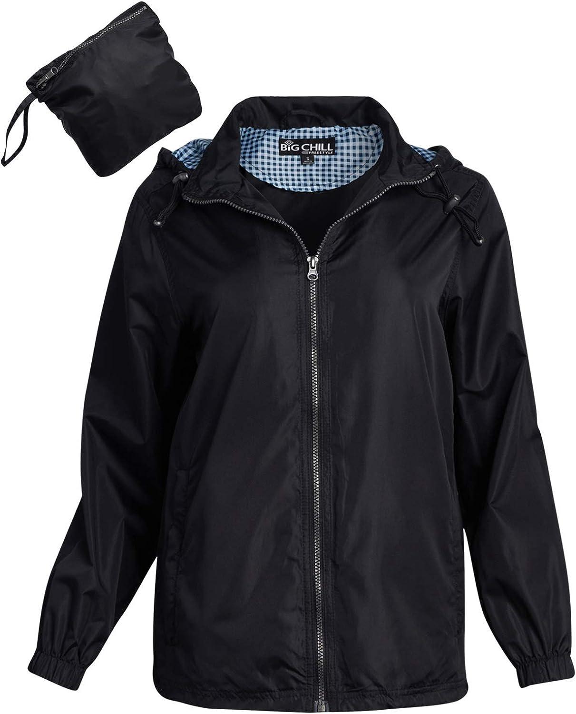 Big Chill Women's Jacket - Lightweight Packable Windbreaker with Hood