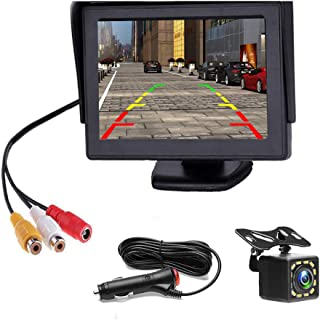 $37 » Backup Camera 4.3 Inch HD 720P Car Backup Camera for Cars,Trucks,Pickups,Suvs Easy Installation Waterproof Night Vision 12...