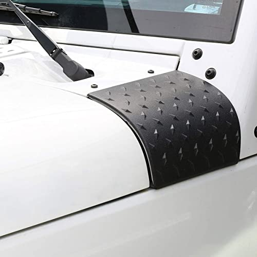 Hooke Road Matte Black Cowl Body Armor Outer Cowling Cover Corner Guards Exterior Accessories Compatible with Jeep JK...