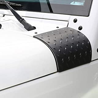Hooke Road Matte Black Cowl Body Armor Outer Cowling Cover Corner Guards Exterior Accessories Compatible with Jeep JK & Wr...