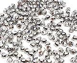Juego de 40 perlas de cristal, 4 mm, doble cono, perlas checas, perlas de cristal, cuentas de cristal, bicone, plata