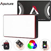 Aputure MC RGBWW LED Video Light,Amaran AL-MC Pocket On Camera Film Light TLCI/CRI 95+, 3200-5600K Adjustable, 0-100% Stepless Dimming, 9 Pre-Programmed Lighting Effect Mode, Wireless App Control