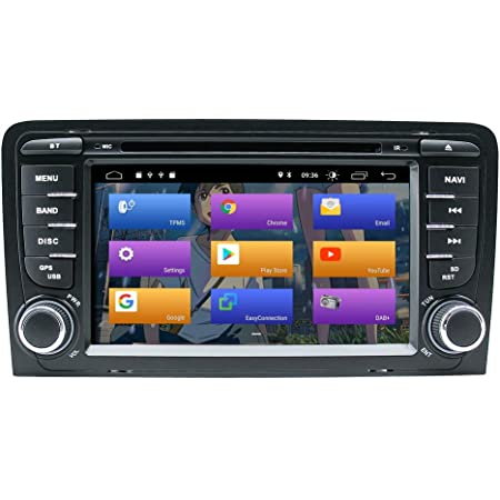 """BOOYES per Audi A3 S3 RS3 Android 10.0 Double DIN 7""""Lettore Dvd"""