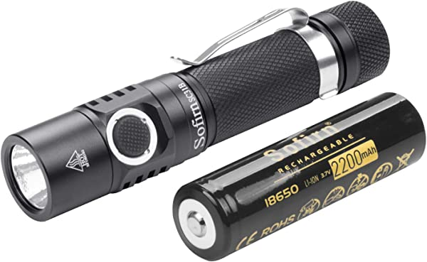Sofirn 1000 Lumens Rechargeable LED Flashlight 18650 Battery Included Super Bright EDC Pocket Light High Lumens 5 Modes For Camping Hiking SC31B