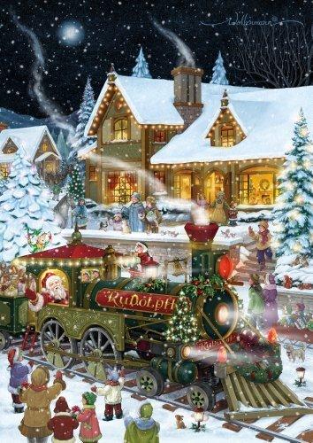 Santa's Train Christmas Card Advent Calendar by Vermont Christmas Company