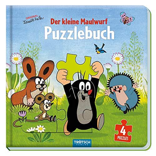 Trötsch Der kleine Maulwurf Puzzlebuch mit 4 Puzzle Maulwurf: Beschäftigungsbuch Entdeckerbuch Puzzlebuch