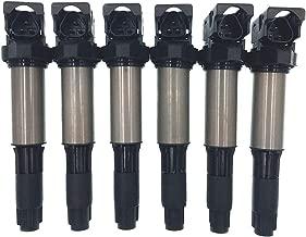 HZTWFC 6 Pack Ignition Coil Compatible for BMW 325i 325Ci 330Xi 525i 530i 545i M3 550i 650i 760i Z4 X5 X3 OEM # 0221504464 12131712219