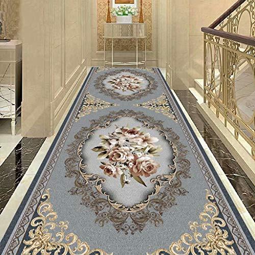 HYRL Flur Laufteppich, Fernkorridor Teppich Gang Treppe Teppich - für Küche/Wohnzimmer/Flur (abwaschbar)