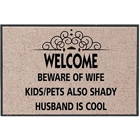 Owner is Shady Dogs are Cool Coir Doormat Doormat Funny Welcome Mat Welcome Home