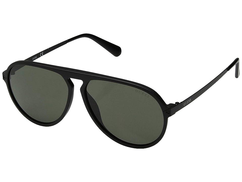 GUESS GU6941 (Matte Black Front/Solid Green Lens) Fashion Sunglasses