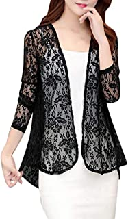 perfectCOCO Cardigan Shirt for Womens, Outwear Cover Blouse Tops Lace Beach Smock Cardigans