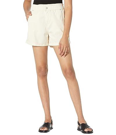 Blank NYC Elastic Waist Cotton Poplin Cuffed Shorts in Buttered Rum