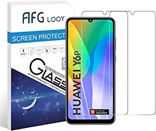 AFGLOOY 2Pack, Screen Protector Compatible with Huawei Y6p/ Honor 9A, Tempered Glass for Huawei Y6p/ Honor 9A, 9H Hardness...