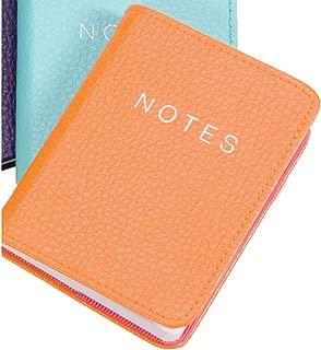 Pumpkin Orange Leather 10cm Notebook by Dulwich Designs