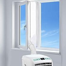 AUGOLA AirLock Raamafdichting voor mobiele airconditioners, wasdrogers en afvoerdrogers, voor bevestiging aan ramen, dakra...