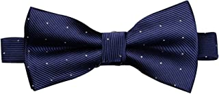 Mens Classic Pre-tied Formal Tuxedo Ties Silver Dots Bowtie- Various Colors Available