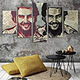 HAOQIPA Cuadro Moderno En Lienzo 5 Piezas Pablo Escobar Caliente Famoso Póster De Arte Moderno Oficina Sala De Estar O Dormitorio Decoración del Hogar Arte De Pared(150x80CM)