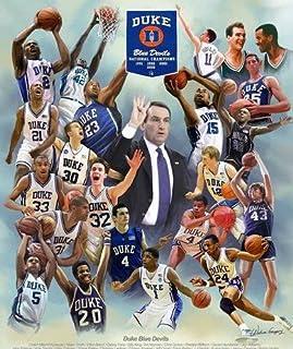 Blue Devils Basketball  College Basketball  Minimal College Basketball Sports Poster Design Print  Multiple Size  Duke