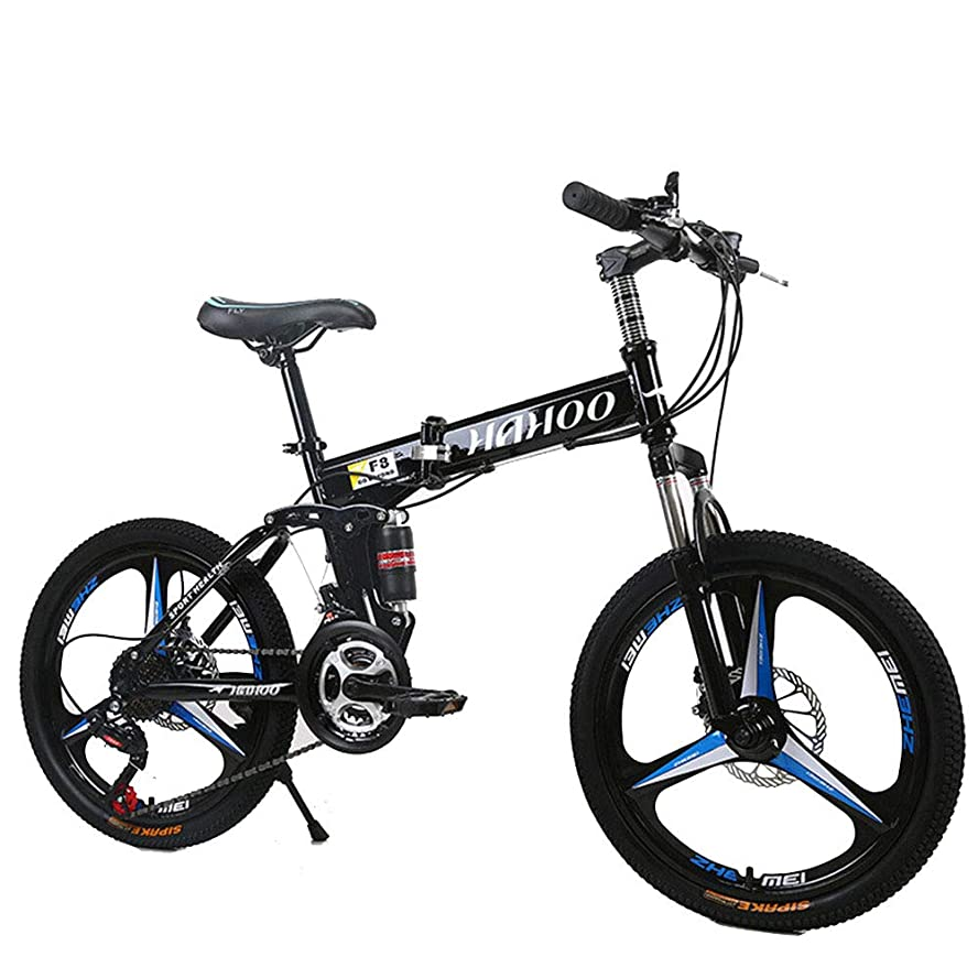 ブルーベル構造的保険24スピードマウンテンバイクは、折りたたみ自転車ロードバイクユニセックスのフルShockingproofカーボンスチールフレームダブルディスクブレーキは24in/ 26in自転車,黒,26