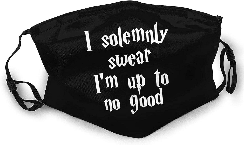 I Solemnly Swear I'm up to no Good Face Mask Dustproof Breathable Protective Bandanas Reusable Adjustable Balaclava
