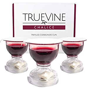TrueVine Chalice Prefilled Communion Cups and Wafer Set - Prefilled Communion Cups With Bread & Juice - Fresh, Easy-Open Communion for Your Service (200 Chalices)