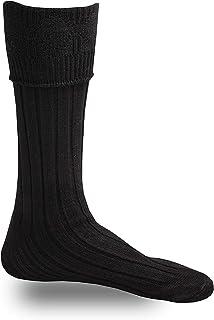 SHYNE KILTS U.K, Negro Hombre Escocesa Montaña Ropa Kilt Hose Calcetines S/M/L/XL