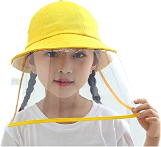 Kids Hat with Face Shield Children Windproof Sun Hat Eyes Nose Full Face Cover Removable Adjustable Unisex Outdoor Cover