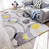 WQ-BBB Fácil De Cuidar Abstracción geométrica Alfombra habitación sin Pelo Negro Gris Beige Amarillo alfombraspara Mesa Salon Pasillo jarapas 140X200cm