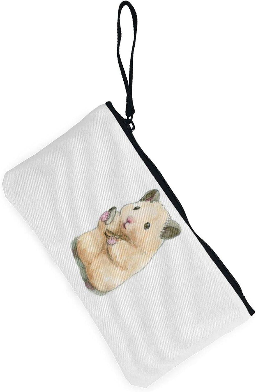 AORRUAM Hamster life Canvas Coin Purse,Canvas Zipper Pencil Cases,Canvas Change Purse Pouch Mini Wallet Coin Bag