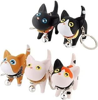 LRRH 5 Pcs Cute Kate Cat Doll Key Rings