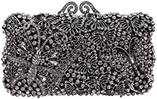 Fawziya Kisslock Handbags For Women Bags And Clutches Crystal Clutch