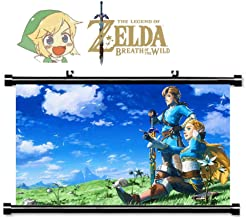 Zelda Poster with Movable Hook 55 * 40cm for Zelda Breath of the Wild Poster Nintendo Switch Game