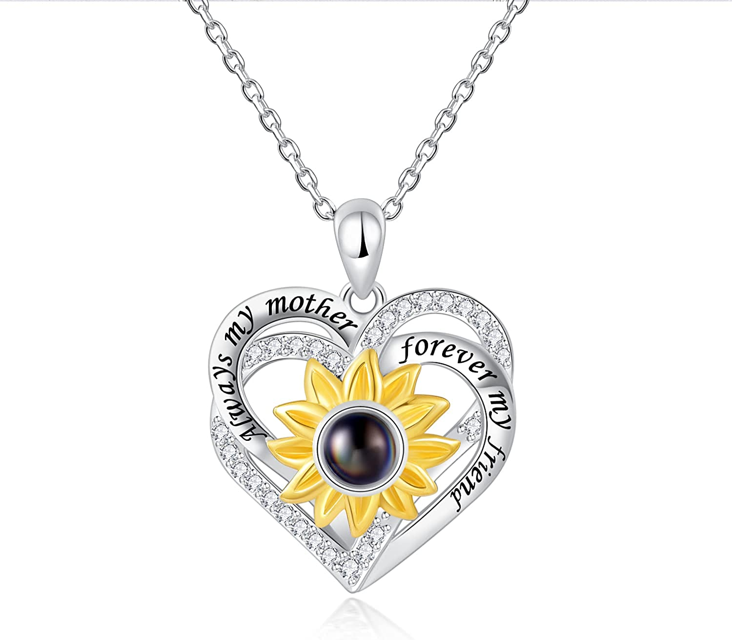Fookduoduo 925 Sterling Silver Milwaukee Mall New arrival Mother Jewelry Sunflow - Daughter