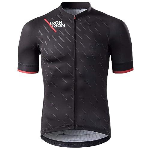 a4c98010e RION Men s Cycling Jersey Breathable Bike Shirt Short Sleeve Tops Pockets