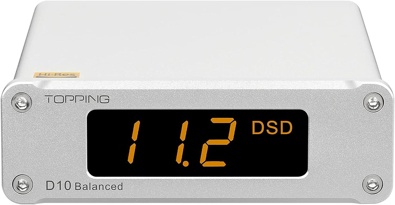 TOPPING D10 Balanced Mini USB DAC CSS XMOS XU208 ES9018K2M OPA21